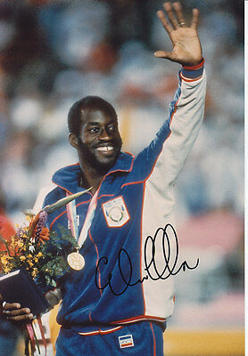Edwin Moses Hand Signed 1984 Photo 12x8 2.