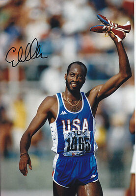 Edwin Moses Hand Signed 1987 Photo 12x8 1.