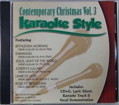 Contemporary Christmas Volume 3 Christian Karaoke Style NEW CD+G Daywind 6 Songs