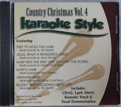 Country Christmas Volume 4 Christian Karaoke Style NEW CD+G Daywind 6 Songs