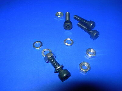 Pack of 25 ASSORTED M2 M2.5 Black M3 SOCKET CAP Head BOLTS  c/w nuts+spr washers
