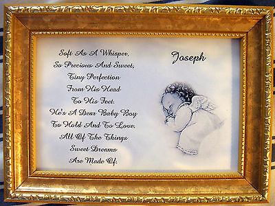 Baby's Personalized Keepsake Poem  ( Boy Or Girl ) Unframed