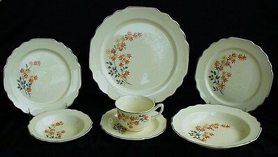 HUGE DINNER SERVICE FOR 8 CANARYTONE LIDO W.S. GEORGE 1930'S WONDERFUL! 64pc.