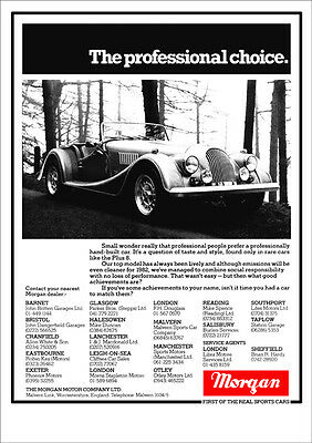 MORGAN PLUS 8 EIGHT V8 RETRO A3 POSTER PRINT FROM CLASSIC 80's ADVERT