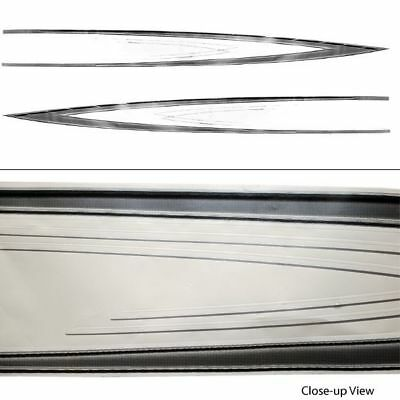 Glastron 0573087 Gs 219 White/gray/black Port /starboad Boat Decals (Set Of 2)
