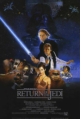 STAR WARS EPISODE 6, RETURN OF THE JEDI POSTER, Size 24x36