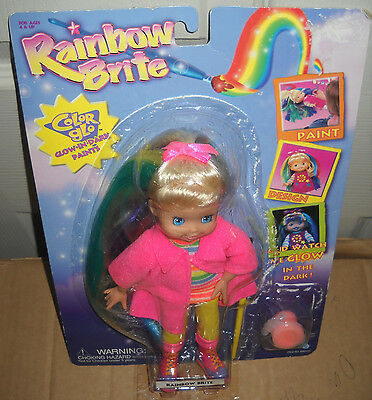 "#3138 RARE NRFC Up Up & Away 9"" Color Glo Rainbow Brite Doll"
