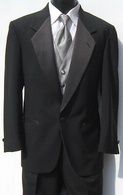 Mens Black One Button Notch Tuxedo Package Prom Wedding Discount Bargain 43R