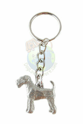 Airedale Keychain Key Chain Ring Fine Pewter