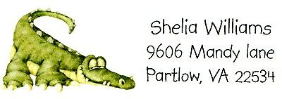 Alligator Animal  Address Labels