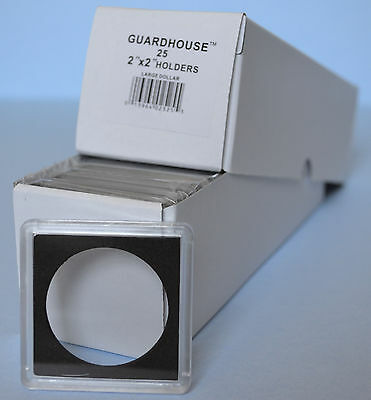 25 - 2x2 SILVER DOLLAR 38.1MM Guardhouse plastic snaplock coin holders NEW!
