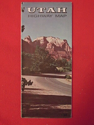 1962 Utah Highway Fold Out Map