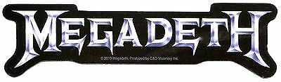 MEGADETH silver logo STICKER **Free Shipping** decal rust in peace peace sells