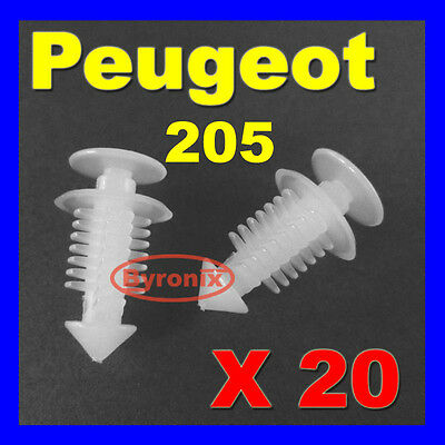 Peugeot 205 Gti Rear Tailgate Interior Trim Clips Plastic Fixings 6996.45 X20