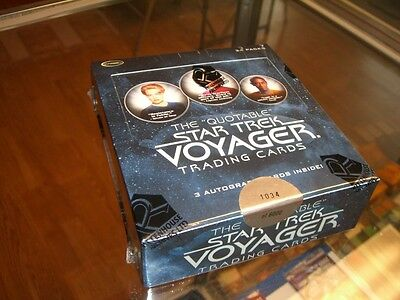 The Quotable Star Trek Voyager Factory Sealed Box with 3 Autographs