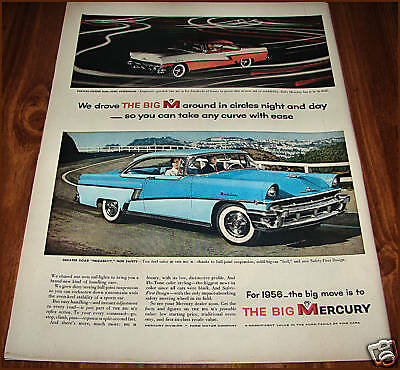 1956 MERCURY Montclair 2-door HARDTOP Vintage CAR AD
