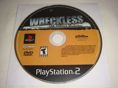 Wreckless : The Yakuza Missions - PS2 Sony Playstation 2 game Disc Only T Teen