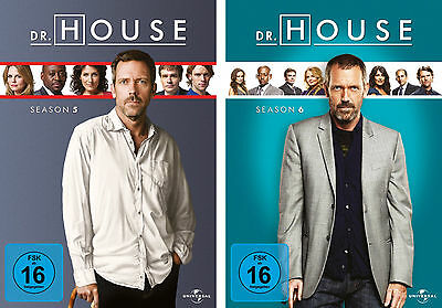 12 DVDs  *  DR. HOUSE  -  STAFFEL / SEASON  5 + 6 IM SET # NEU OVP +