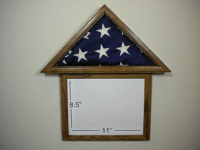 3 X 5 Oak With Frame Flag Display Case Capital American Usa Military