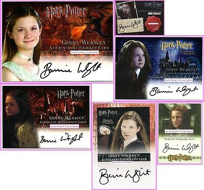 Ginny Weasley Auto Card CoS PoA GoF DH DH2 HV Bonnie Wright SDCC Harry Potter