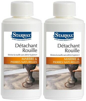 2 Detachant Rouille Pour Marbre Pierre Naturelle Starwax