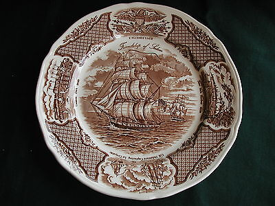 "ALFRED MEAKIN FAIR WINDS BROWN 10 5/8"" DINNER PLATE"