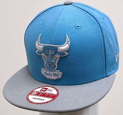 NEW ERA 2TONE 9FIFTY SNAPBACK CUSTOM NBA CHICAGO BULLS Sky Blue Grey ... e5982b52b97