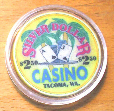 $2.50. Silver Dollar Casino Chip -Tacoma, Washington - CHIPCO