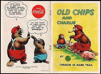 Vintage booklet OLD CHIPS AND CHARLIE COCA COLA dated 1954 Ed Dodd art n-mint