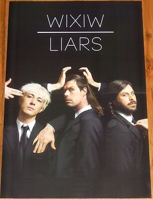 Liars the band POSTER WIXIW release tour 11 x 17 inches