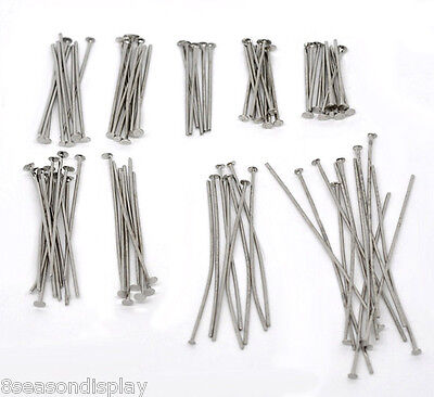 4500 PCs Mixed Silver Tone Head Pins Findings Wholesale