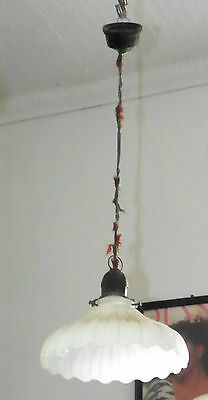 Inidustrial Hanging Light With Bakelite Socket And Holder W/shade 5004