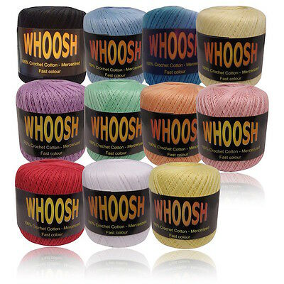 Whoosh 100 /% Peach Crochet Cotton Mercerized Yarn Balls 400 Yards Soft Thread