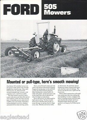 Farm Implement Brochure - Ford - 505 - Mowers - c1980 (FB313)