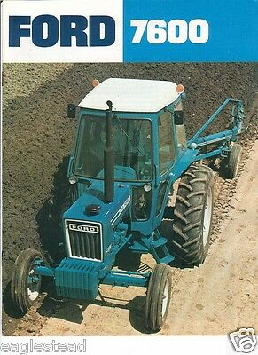 Farm Tractor Brochure - Ford - 7600 - c1977 (FB317)