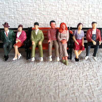 14 pcs All Seated G scale 1:32 Painted Figures passengers 7 poses passenger