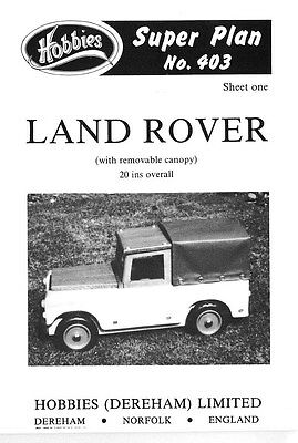 Hobbies Plans To Make A Fantastic Toy Land Rover   P403