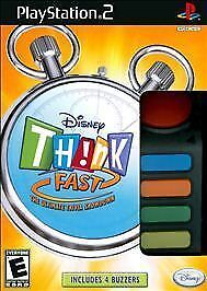Disney Think Fast  (game only)(PS2,PlayStation 2, 2008) new & sealed