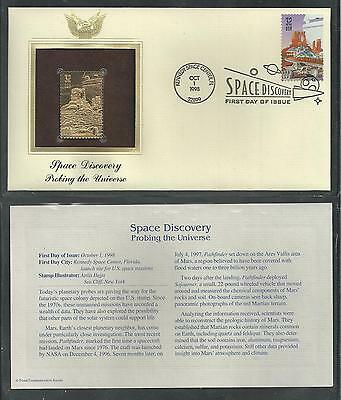 # 3238-3242 SPACE DISCOVERY, SCIENCE, STARS 1998 Gold Foil First Day Covers