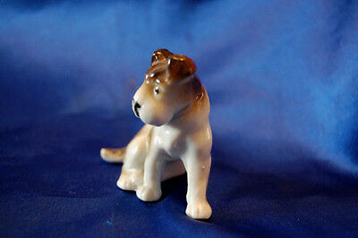 Antique Porcelain Dog Germany Wire Fox terrier jack Russell Rascal Rat terrier