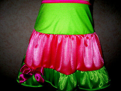 New  Girls,punk,Neon Pink, Green  Frilly,Punk,Dance,Disco  Party  Skirt*
