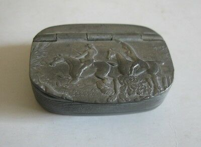Antique Advertising Snuff Box With Hunting Scene G Smith London