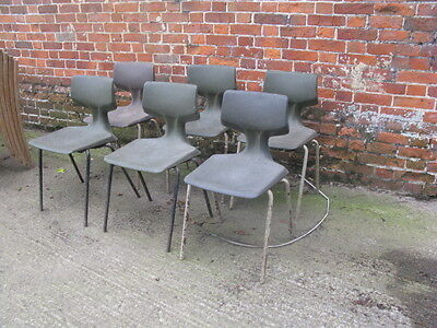 Vintage 1960's Plastic Stacking Chairs