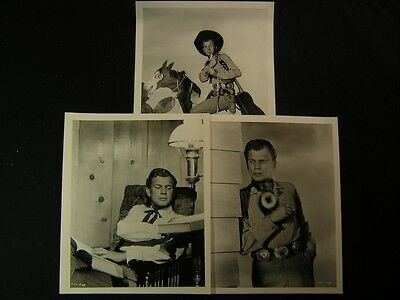 1946 Joseph Cotten Duel In The Sun VINTAGE 3 Western Movie PHOTO LOT 338P