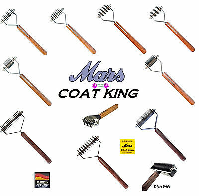 MARS COAT KING STRIPPER DOG Cat Undercoat Hair Coat Fur STRIPPING Tool Comb Rake