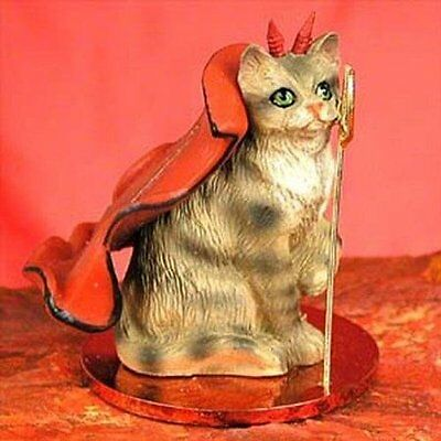 Brown Tabby Devil CAT Tiny One Figurine Statue
