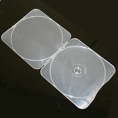 400pcs 4mm Clam Shell High Impact Resistant Clear Square Shape Plastic Case