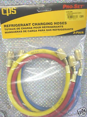 "CPS PRODUCTS  36"" Charging Hose Set w/Anti-Blow-Backs"