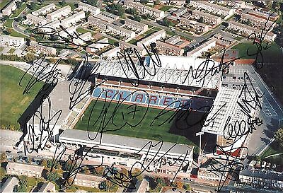 Burnley 12 x 8 inch photo personally signed by 15 of the 2012-13 squad