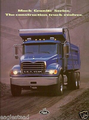 similiar 1999 mack granite keywords truck brochure mack granite series x2 construction evolves